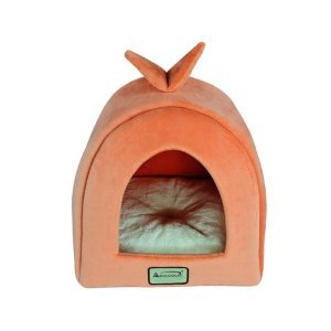 Armarkat Cat Bed<br> Orange and Ivory