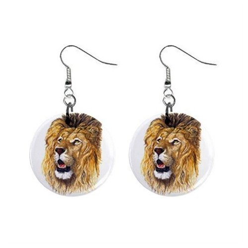 Maine Coon Cat Button Earrings