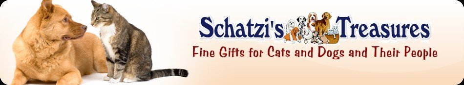 Schatzi's Treasures Logo on the Cat & Dog Lover Gifts Page